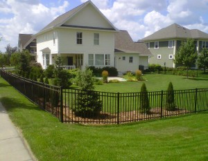Photo: Decorative Aluminum Fence Colors Can Affect Your Whole Property