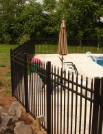 fence posts in concrete