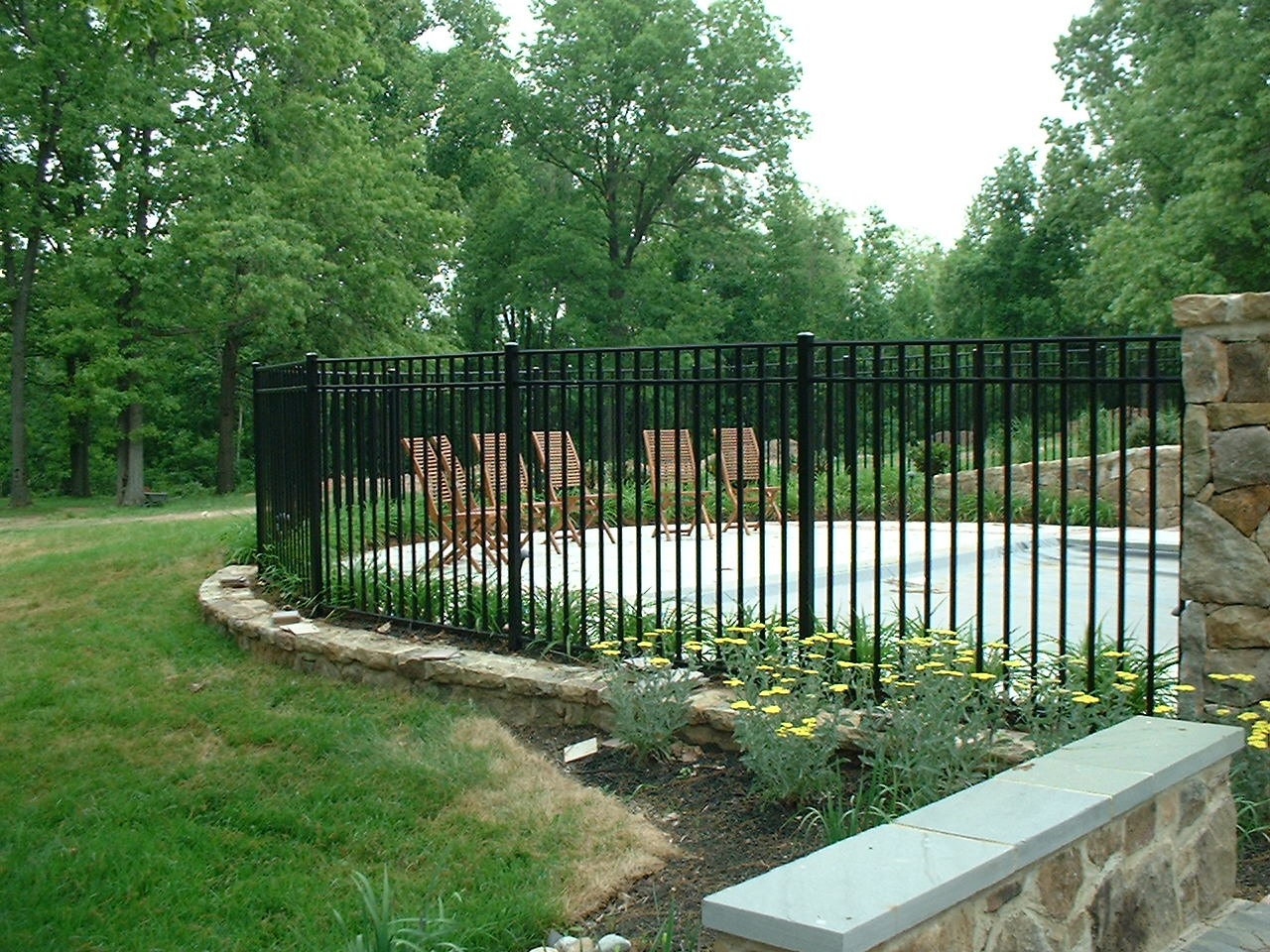Our residential aluminum fence styles