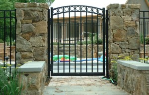 "54"" Series A 3 Rail with Welded Rings Walk Gate"